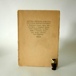 """Oppman A."""" Kronika Mieszczańska"""" Warszawa 1922"""