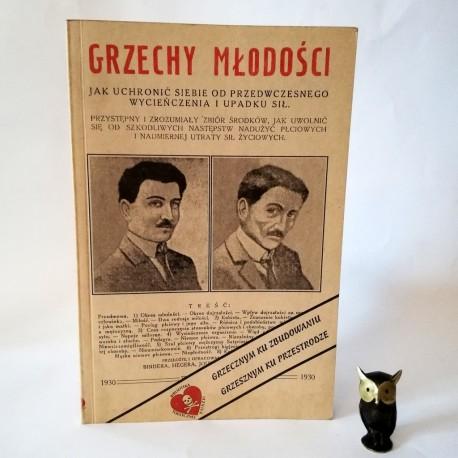 """""""Grzechy młodości"""" reprint - Wilno 1930"""
