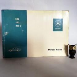 Instrukcja obsługi Mercedes Benz 220, 250, 250 Coupe 1972 - Owner's Manual