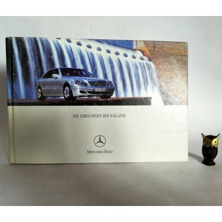 """Prospekt Mercedes Benz """" Die limousinen der S Klasse"""" Stuttgart 2002"""