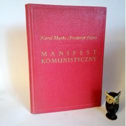 """Mark K. Engels F. """" Manifest komunistyczny"""" Warszawa 1954"""