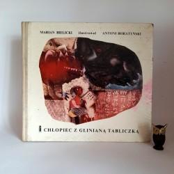 """Bielicki M. """" Chłopiec z glinianą tabliczką """" Warszawa 1969"""