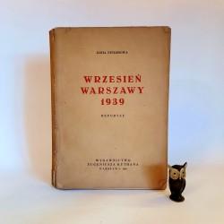 """Petersowa Z. """" Wrzesień Warszawy 1939 """" Warszawa 1946"""