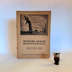 Katalog z Wystawy Grafiki Meksykańskiej - Warszawa 1950