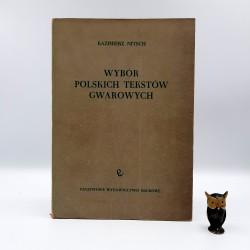 """Nitsch K. """" Wybór Polskich Tekstów Gwarowych """" Warszawa 1960"""