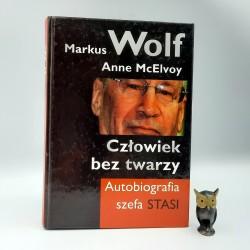 """Wolf M. """" Człowiek bez twarzy """" Warszawa 1999"""
